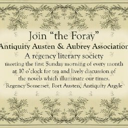 """Foray,"" a Regency era Literary Society, meets first Sundays."