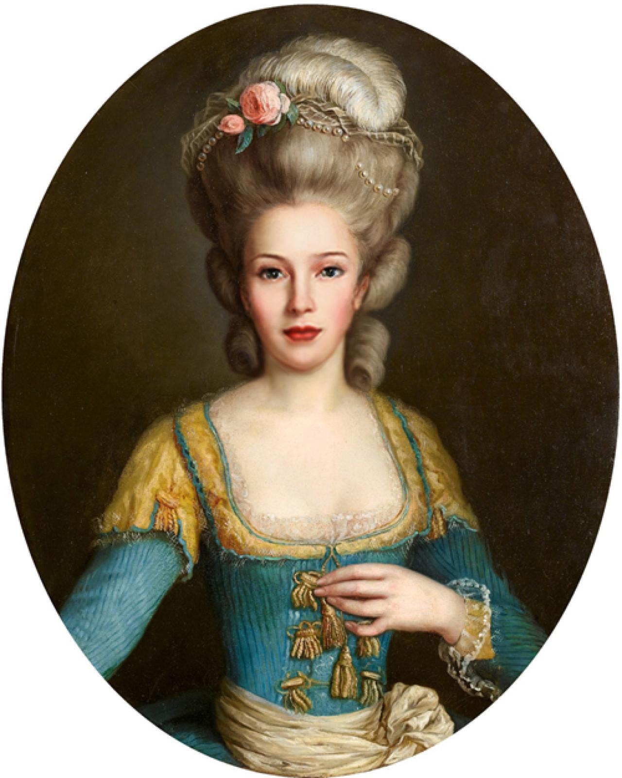 Женские прически 18 века