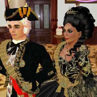 Prince and Princess von Hirvi at the court of the Princess Royal