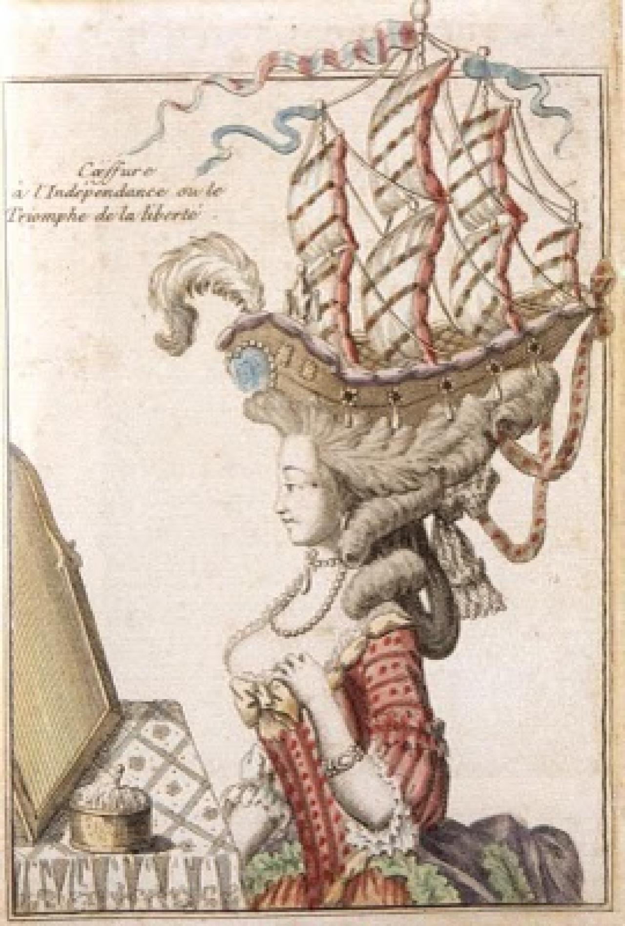 Причёски в виде корабля