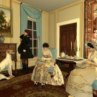 Lady Dryden with Mr and Mrs Allerton