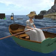 Festa Delle Aque-Lady Sere Oversees the Raft Event