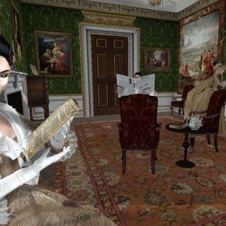 Lord Cornwallis and his Sister Enjoying quiet reading.jpg