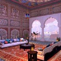जलमहल में बैठने का कमरा- the Jal Mahal (Sitting Room)