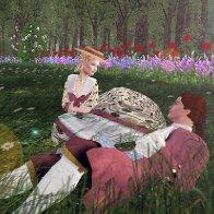 The Shuvalovs Enjoyng the Spring Weather