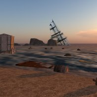 Shipwreck on Rocca Sorrentina: Dusk