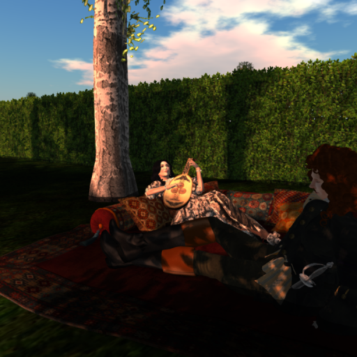 Enjoying the Sunset to Music