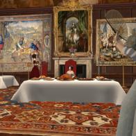 The Queen dines in public
