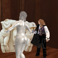 Killigrew and a Living Statue