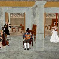 Musicians Playing Street Music - Rocca Sorrentina (8 September 2013)