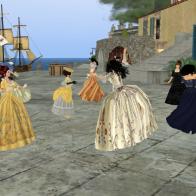 Dancing Outside the Taverna - Rocca Sorrentina