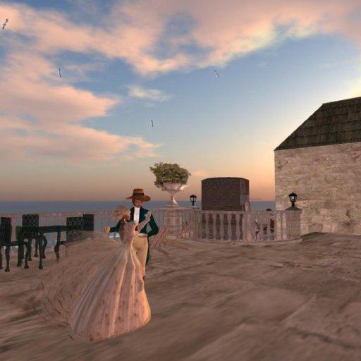 Dancing on the Terrace of Trafalgar Inn, Port Austen