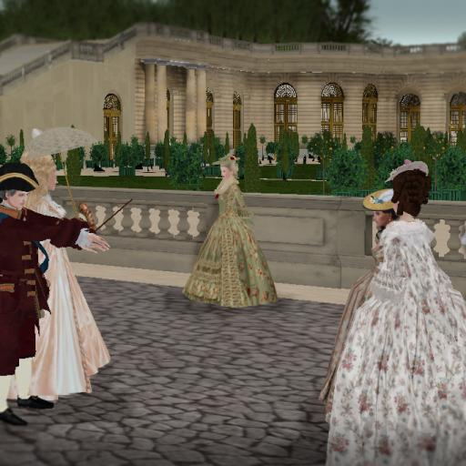 Promenade after the tea