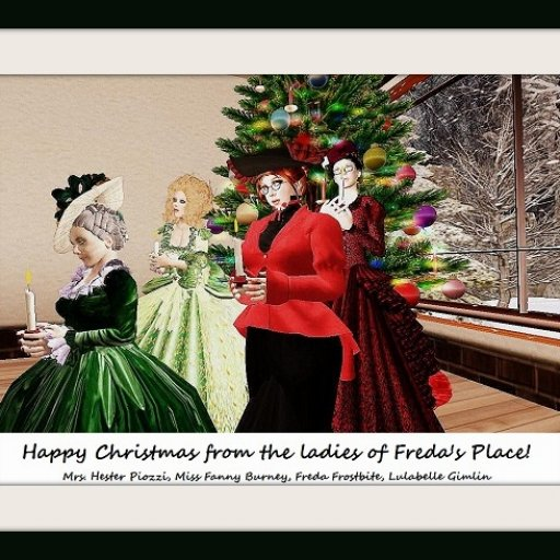 Ladies of Freda's Place Christmas Framed