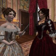 The Duchess of Buckingham and Lady Shrewsbury