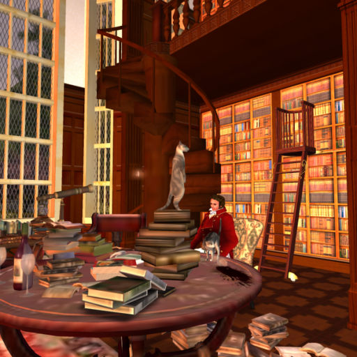 The Library at Bellefleure Manor